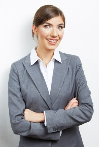 woman with a confident smile