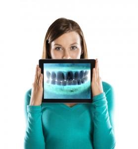 x-ray of straight teeth