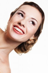 Beautiful Woman with Cosmetic Braces
