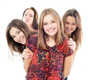 Teens Smiling