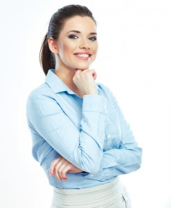 businesswoman with beautiful smile